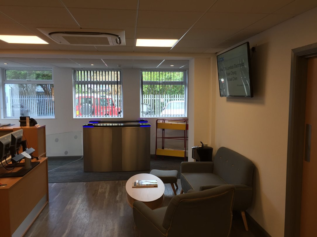 Reception area redesign and refurbishment