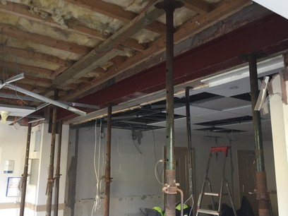 Installation of new steel to take down dividing wall for open plan area by MJS Building Maintenance Ltd.