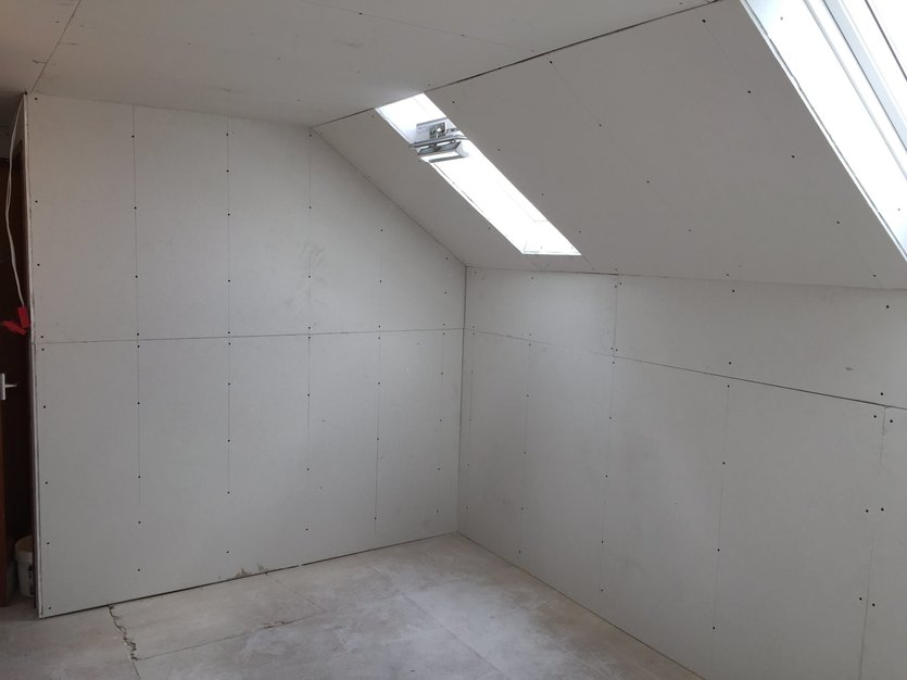 Plaster boarding loft conversion in Barnstaple North Devon