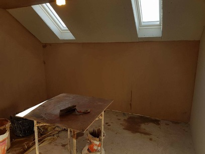 All walls and ceilings were skimmed with a two coat system. in North Devon