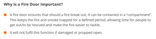 Why is a Fire Door Important?