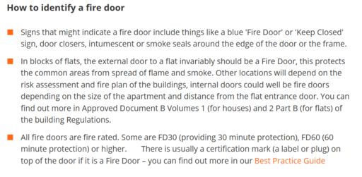 How do identify a fire door