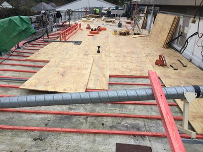 Commercial GRP fiberglass roofing project for North Devon