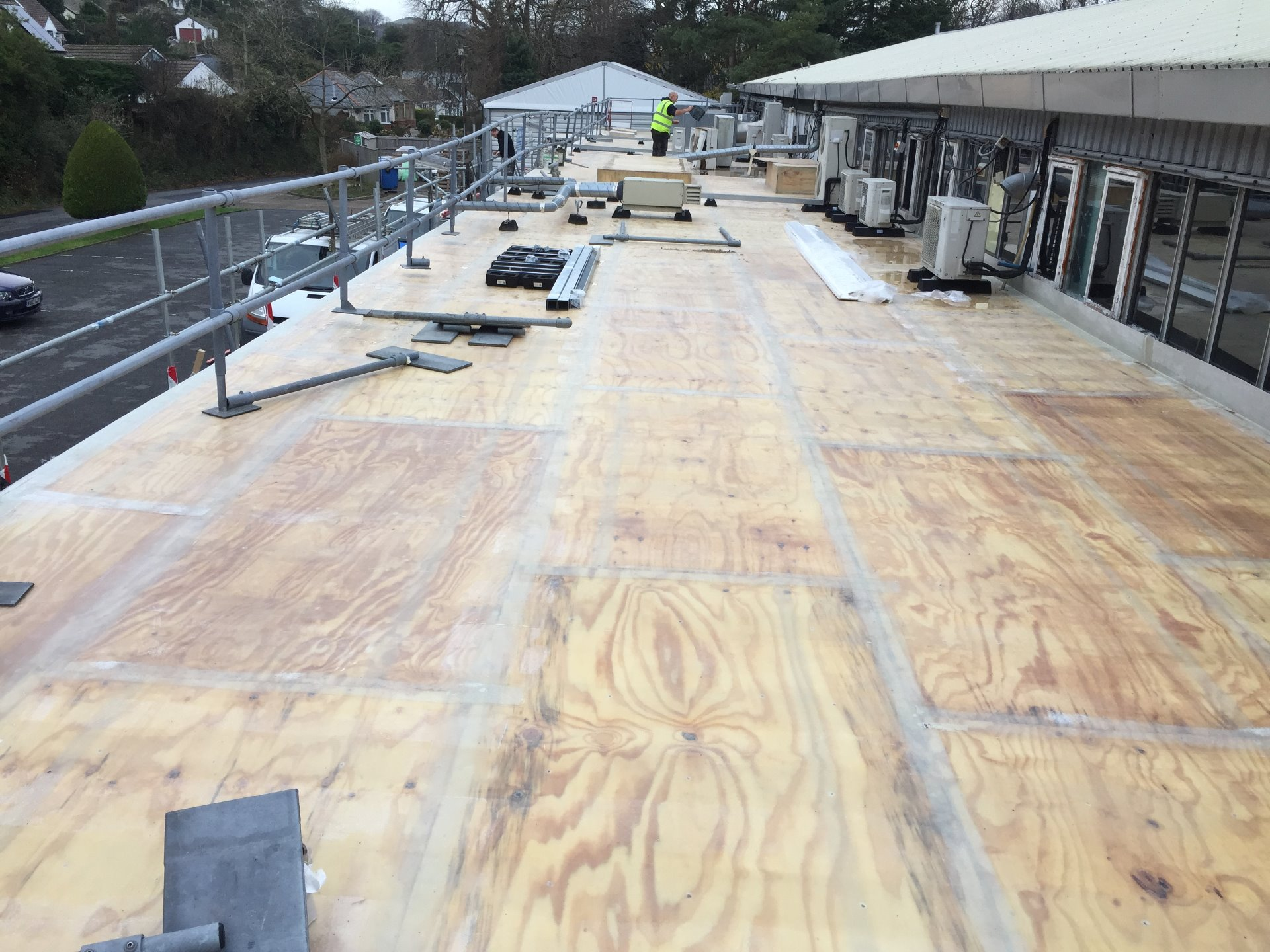Commercial Grp Fiberglass Roofing Project