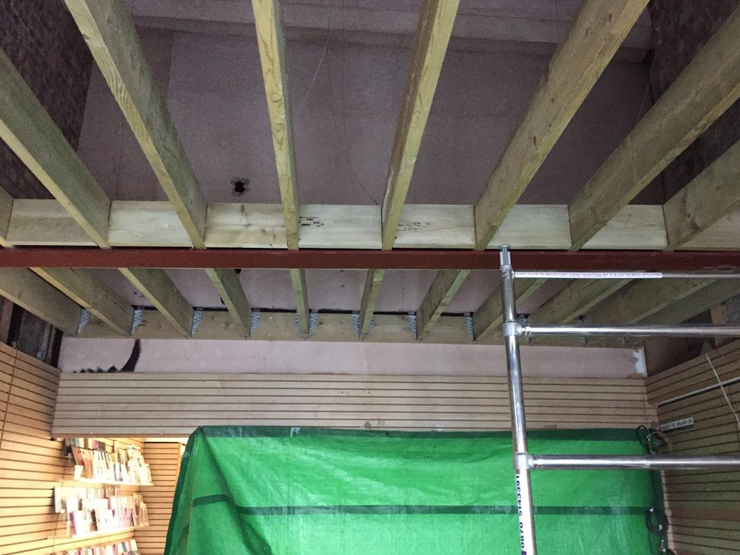 Steel and floor joist install North Devon