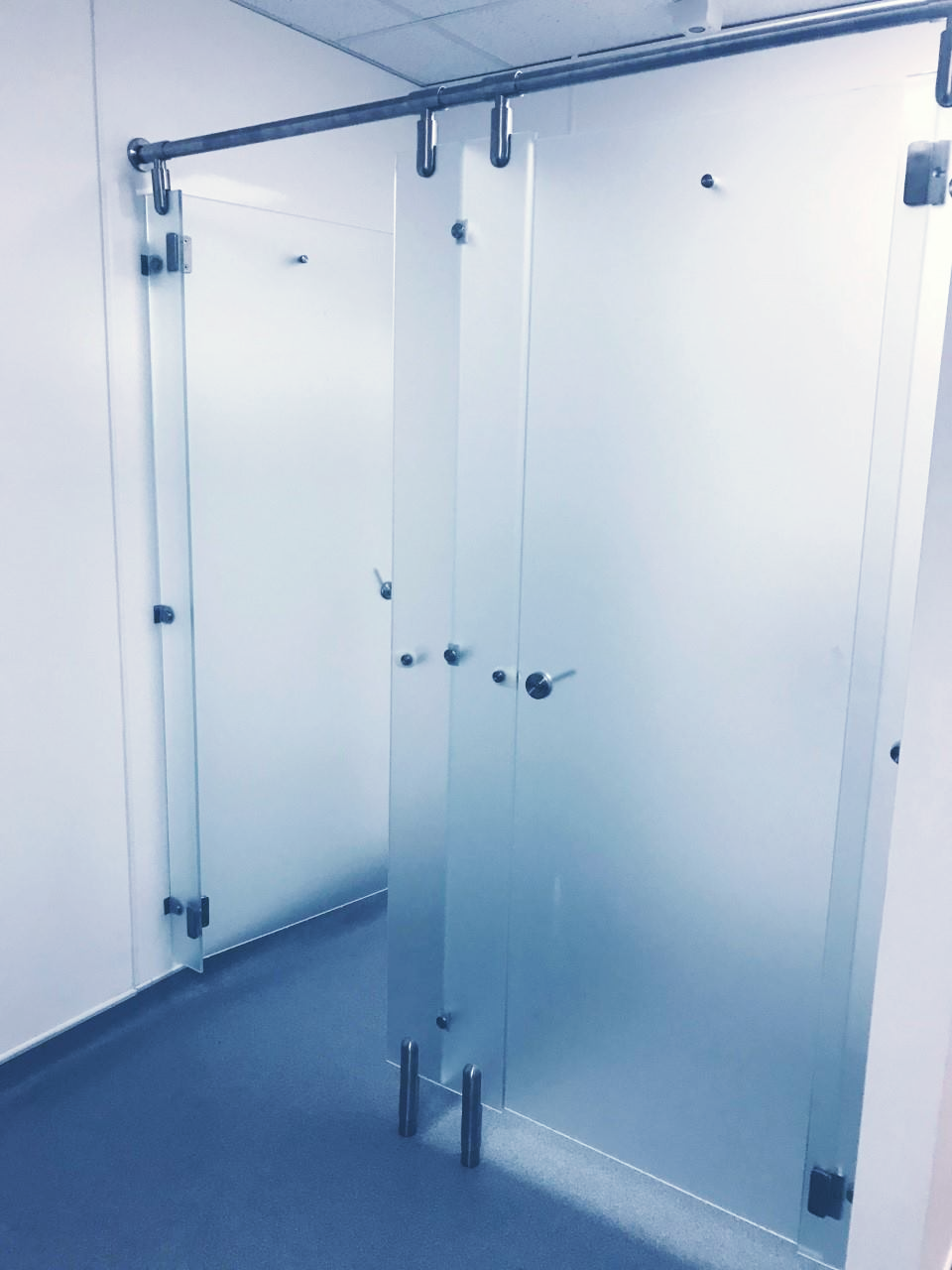 Fitness centre shower refurbishment