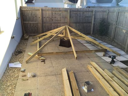 Building a Gazebo in North Devon