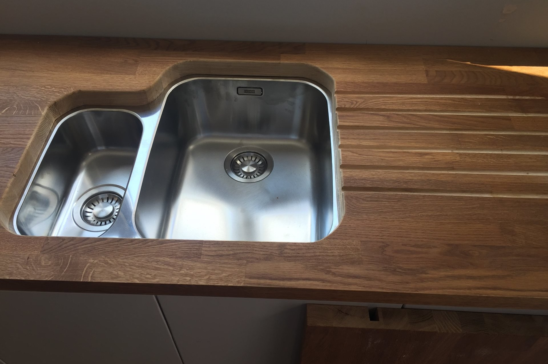 Custom work top for domestic kitchen