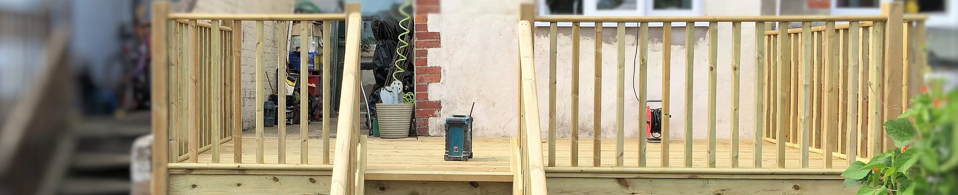 Decking for domestic home in Barnstaple Nprth Devon