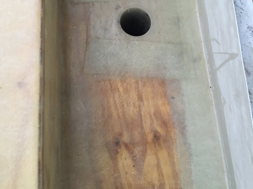 Preformed customised fiberglass outlets to fit into the internal guttering. A project in North Devon