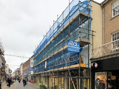 Barnstaple High Street redecoration