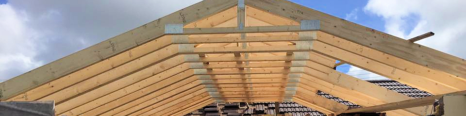 Roof trusses in place Barnstaple North Devon
