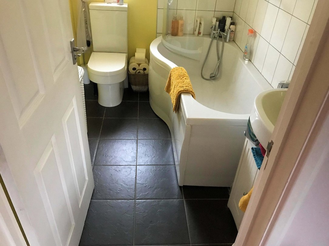 Bathroom change of use before conversion, here in Barnstaple North Devon