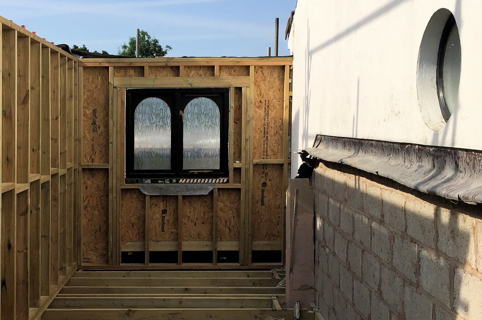 Garage and house extension North Devon