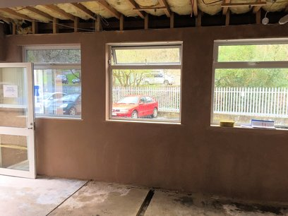 New skimmed plaster walls in North Devon
