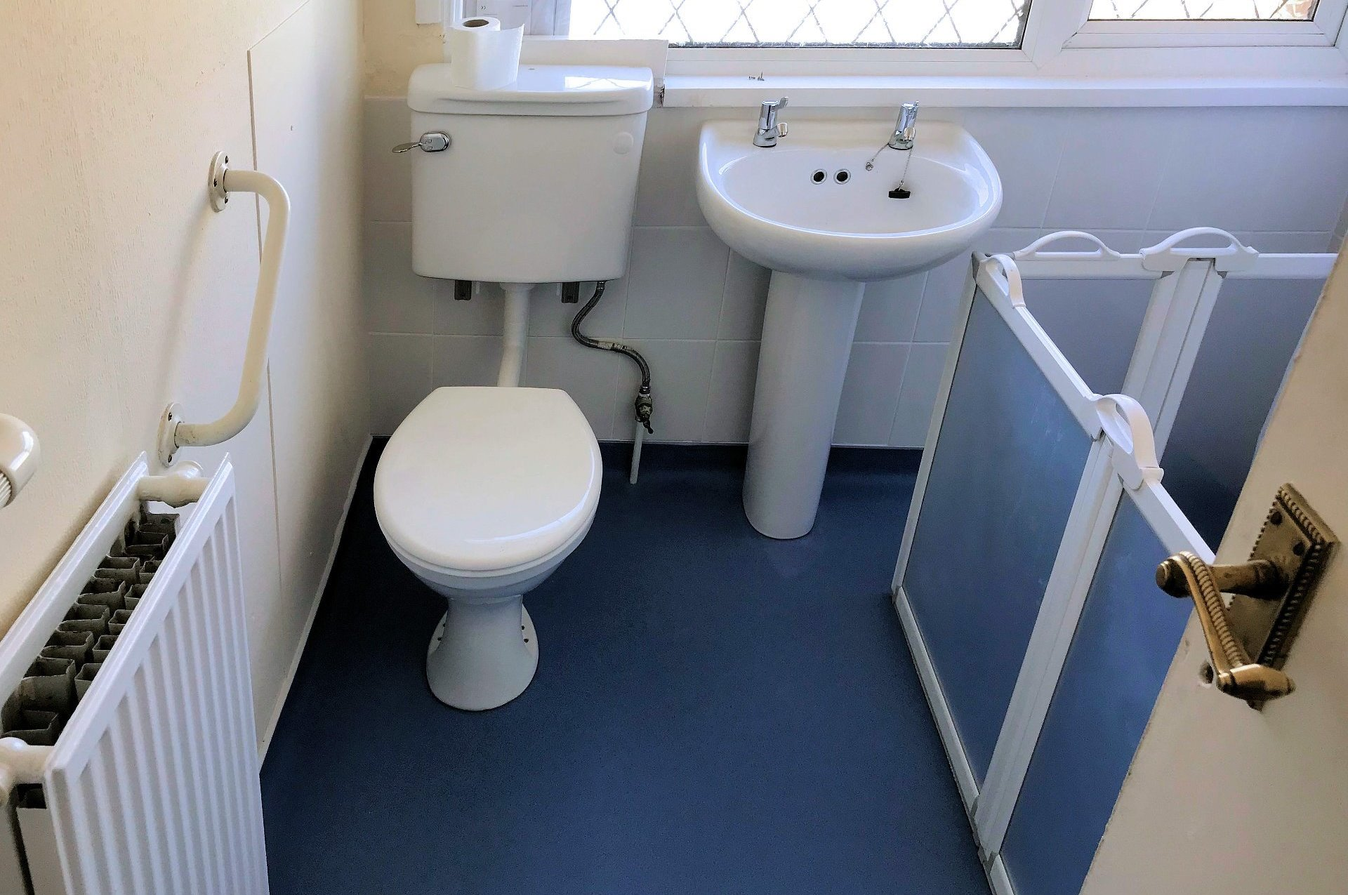Easy access walk in bathroom adaption