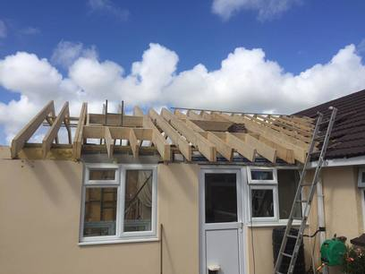 Truss roof in Fremington North Devon by MJS Ltd.
