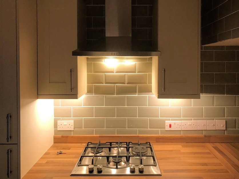 Kitchen Units Fitted with Led lighting. Barnstaple North Devon