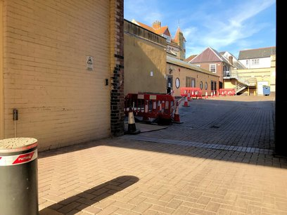 Brick paving restored as part of new electrical supply installation Barnstaple North Devon