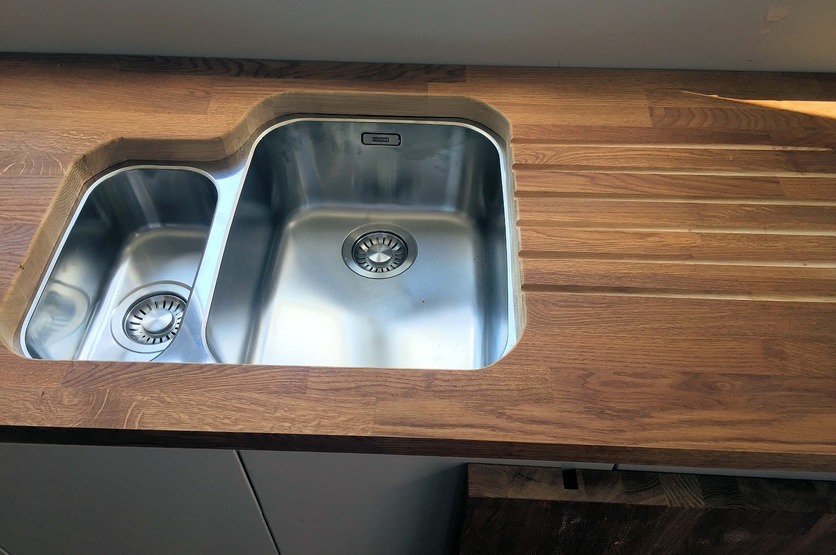 Custom worktop for domestic kitchen, Barnstaple North Devon